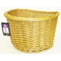 ADIE D Shape Wicker Basket 16 inch
