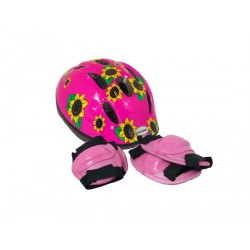 Raleigh Little Terra Pink Sunflower Helmet Safety Pads