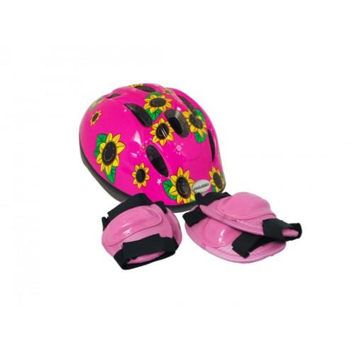 Raleigh Little Terra Pink Sunflower Helmet Safety Pads