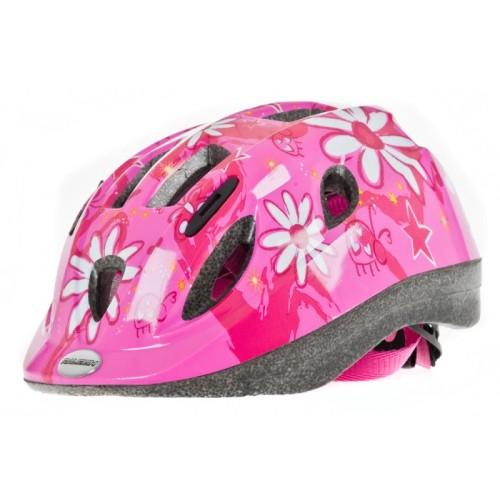 Raleigh Mystery Junior Cycle Helmet Pink Flower