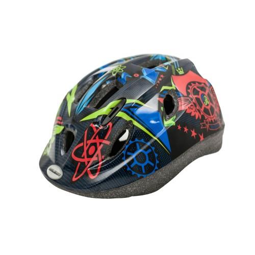 Raleigh Mystery Junior Cycle Helmet Blue Atoms
