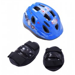 Raleigh Mystery Blue Helmet & Safety Pads Set