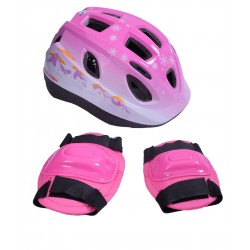 Raleigh Mystery Girls Pink Helmet & Safety Pads Set