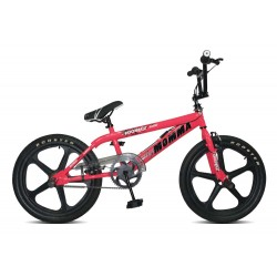 Rooster Big Momma Pink and Black Skyway Mag Wheels BMX Bike