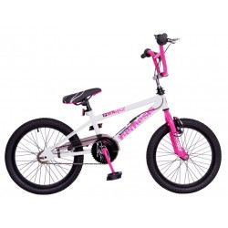 "Rooster Nemesis 18"" Girls White-Pink BMX Bike"