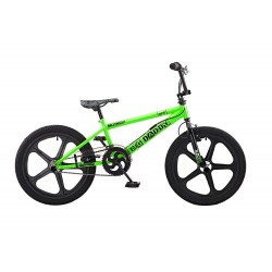 Rooster Big Daddy Green - Black Skyway Mag Wheels BMX Bike