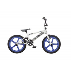 Rooster Big Daddy White - Blue 18 Skyway Mag Wheels BMX Bike