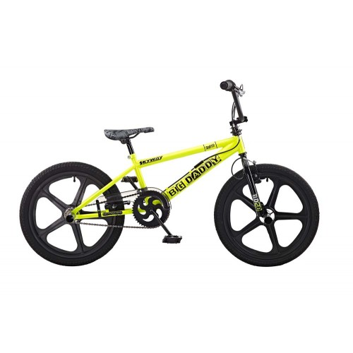 Rooster Big Daddy Yellow - Black Skyway Mag Wheels BMX Bike