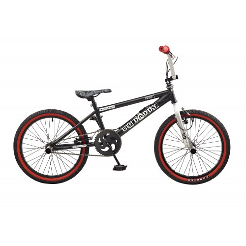 Rooster Big Daddy Black - White Spoked BMX Bike