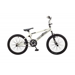Rooster Big Daddy White - Black Spoked BMX Bike