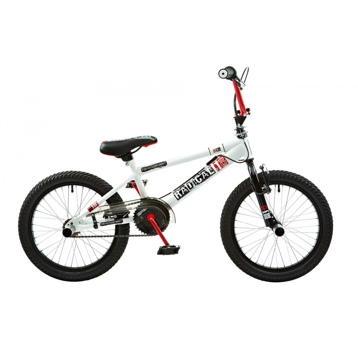 Rooster Radical 18 Boys Junior Red-White BMX Bike