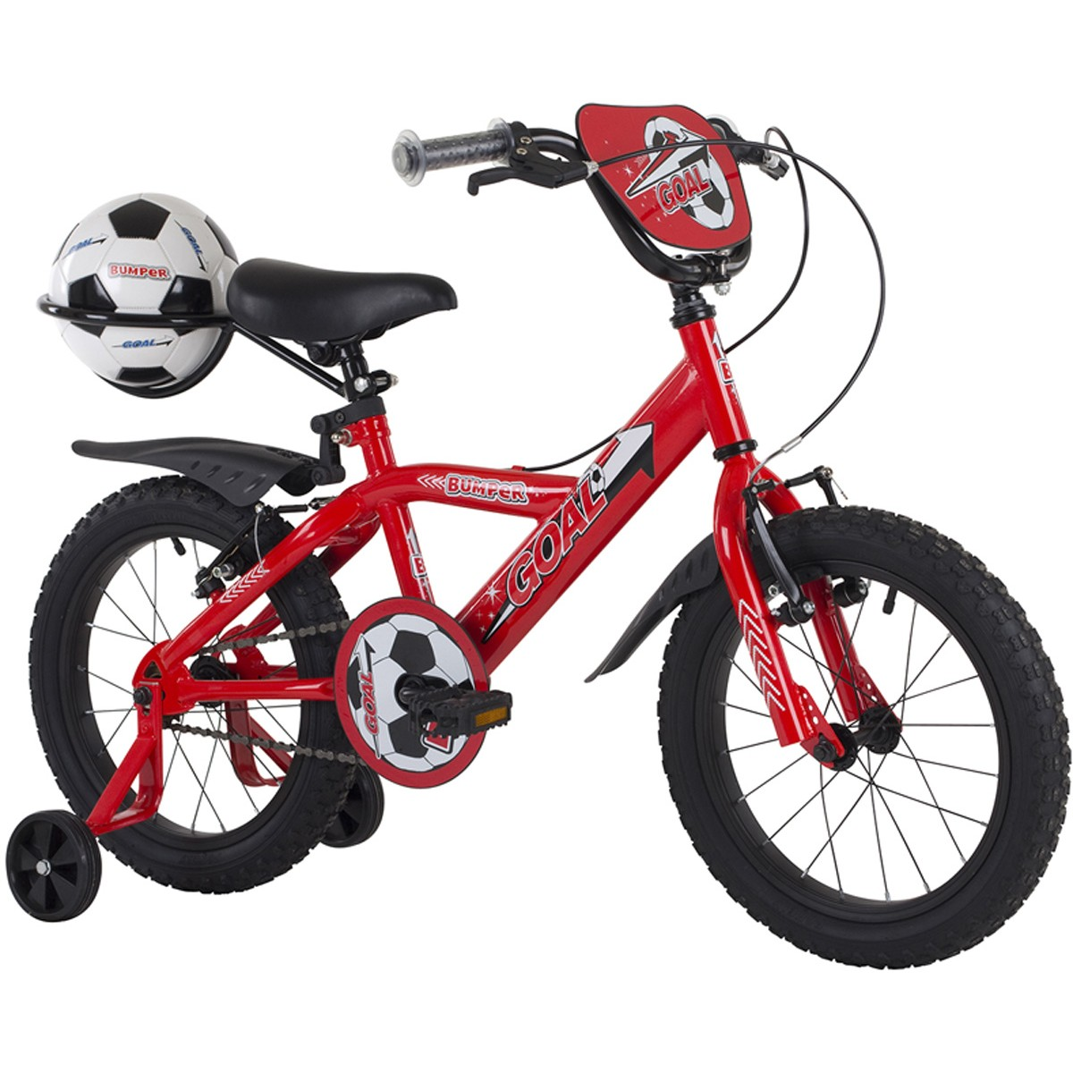 Bumper Goal 18 inch Red Boys Bike 2014